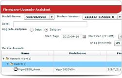 Vigor ACS SI - Upgrade ao firmware com auto-agendamento