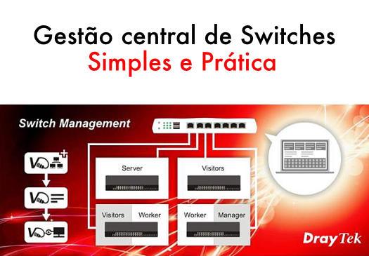 Gestão central de Switches - Simples e prática
