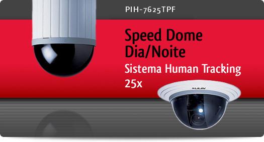 Imagem: Speed Dome Dia/Noite com sistema Human Tracking