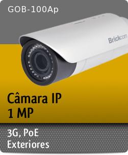 GOB-100Ap - C�mara IP Megapixel 3G, D/N com I.V., Hi-POE / Exteriores
