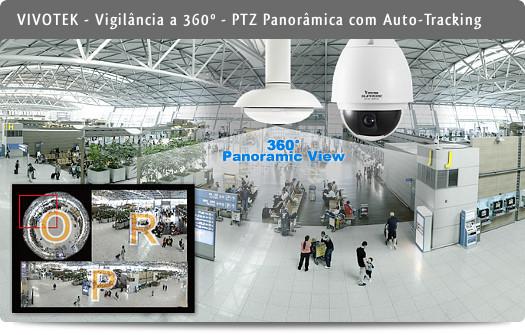 Vivotek PTZ Panorâmica com Auto-Tracking