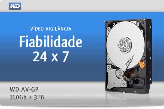 Fiabilidade 24 x 7 - vídeo vigilância