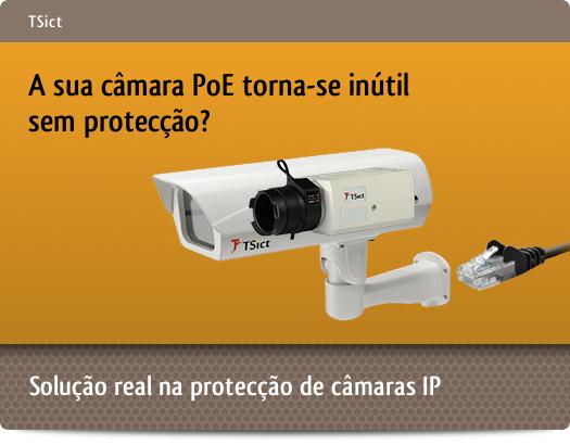 Caixas de exterior/interior para protecção de câmaras IP PoE